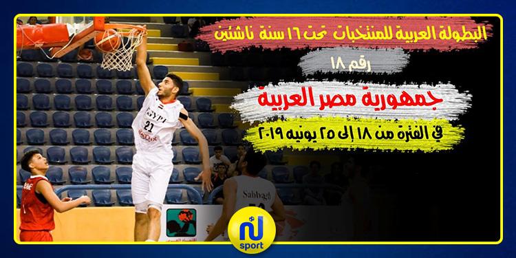 كرة السلة: المنتخب التونسي يشارك في البطولة العربية للشباب بمصر