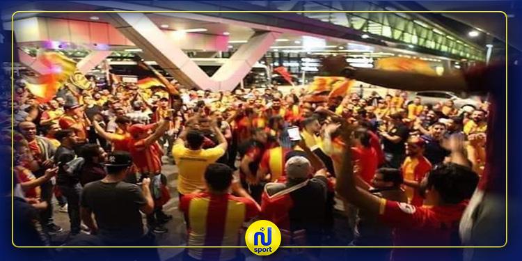 استقبال 'ملكي' من جماهير الترجي الرياضي للاعبين بمطار الدوحة