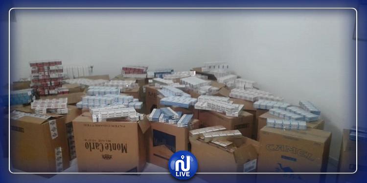الصخيرة: حجز 7 آلاف علبة سجائر مهربة بقيمة 70 ألف دينار