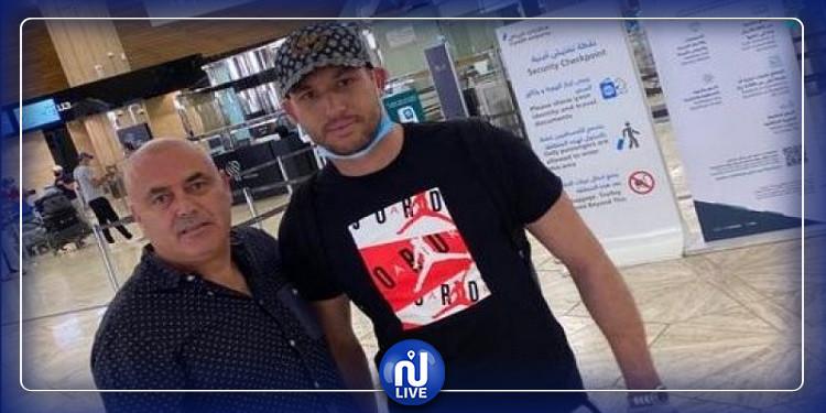 دخل في الحجر الصحي:  بن مصطفى يعود إلى تونس بعد توقف الدوري السعودي