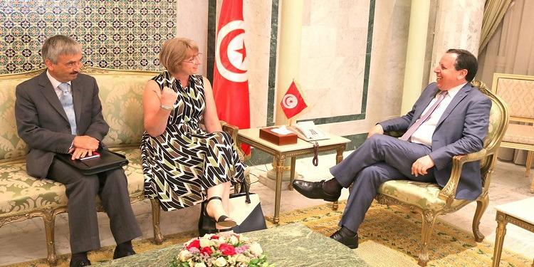 الوضع الليبي محور لقاء الجهيناوي وسفيرة المملكة المتحدة بتونس والسفير البريطاني لدى ليبيا