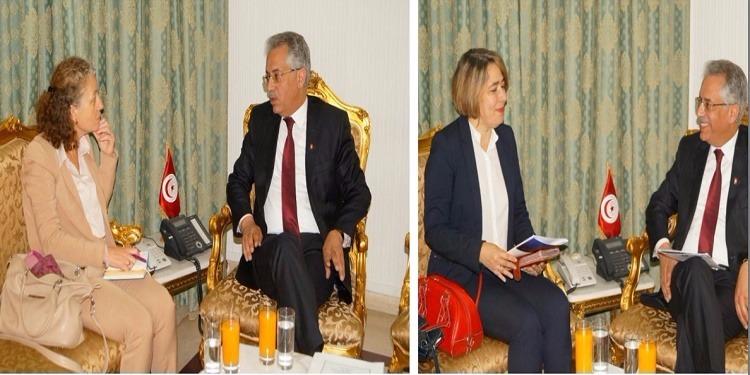 وزير العدل يلتقي كل من ممثلي اليونسيف والشبكة الأورومتوسطية لحقوق الإنسان