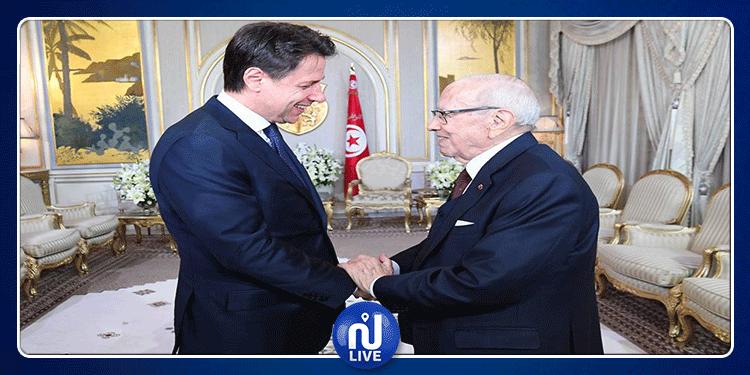 رئيس الجمهورية يلتقي رئيس الوزراء الإيطالي (فيديو)