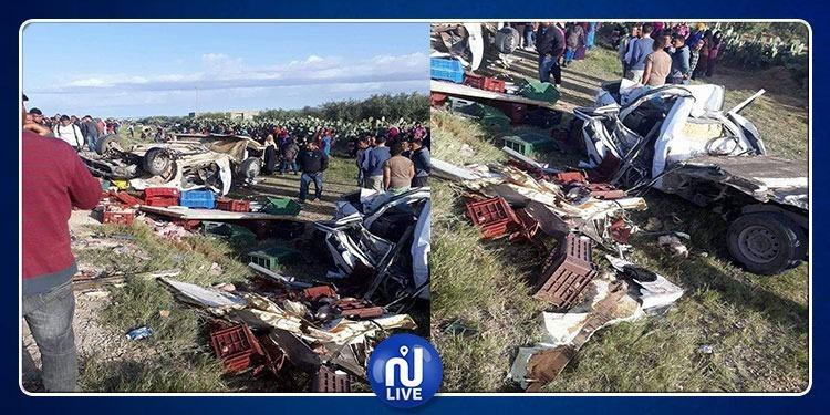 سيدي بوزيد: حادث مرور السبالة في صور