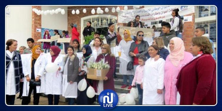 بالورود البيضاء...تنظيم تظاهرة تحسيسية حول العنف ضد المرأة بمنوبة
