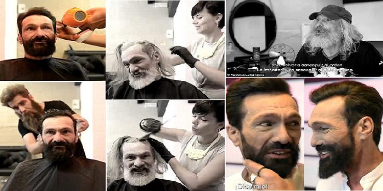 إسبانيا: بمجرد أن حلق ذقنه وقص شعره انقلبت حياته من ''غوريلا'' الى محبوب الفتيات (صور)