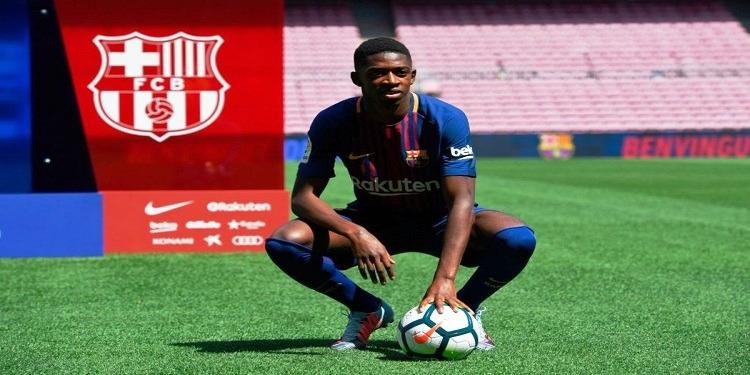 المهاجم الفرنسي ديمبيلي ينضم لتدريبات برشلونة بعد غيابه بسبب الإصابة