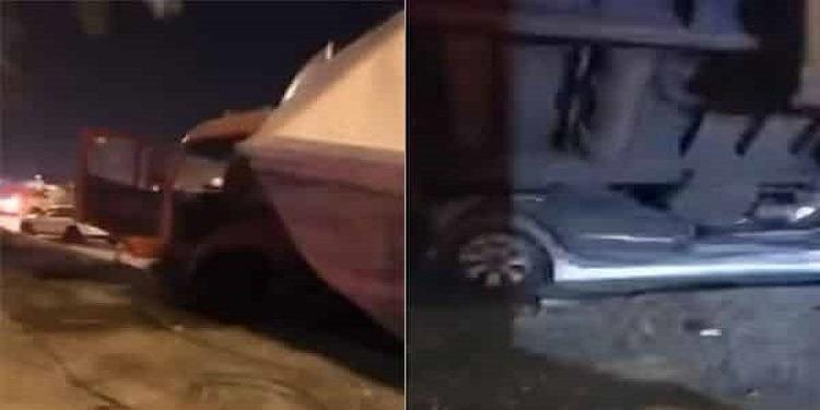 سعودي ينجو من الموت بأعجوبة بعد تعرض سيارته للدّهس (فيديو)
