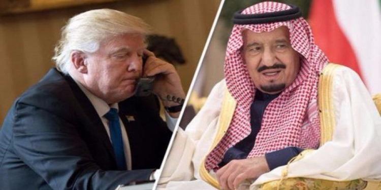 في مكالمة هاتفية .. ترامب يحث العاهل السعودي على حل أزمة قطر