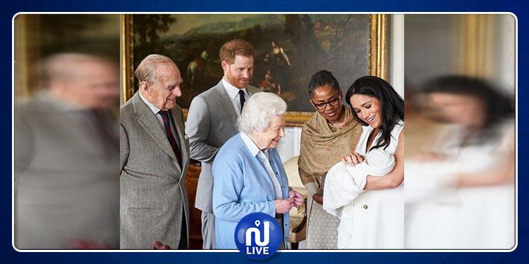 La reine Elizabeth II rencontre son arrière-petit-fils
