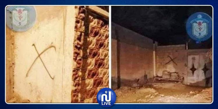قفصة : وضع علامة قاطع ومقطوع على 9 منازل لأمنيين (صور)
