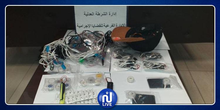 إيقاف شخص من أجل ترويج أجهزة الكترونية معدّة للغش في الامتحانات (صور)