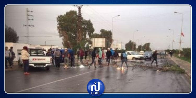 منوبة : غلق الطريق الرابطة بين الجديدة و البطان
