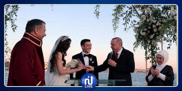 أوزيل يحتفل بزفافه في اسطنبول وأردوغان الشاهد (فيديو)