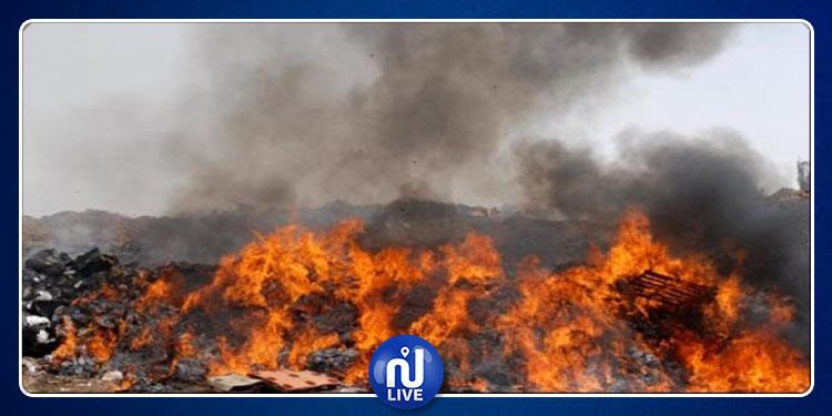 القبض على المتورط في حريق مصب برج شاكير