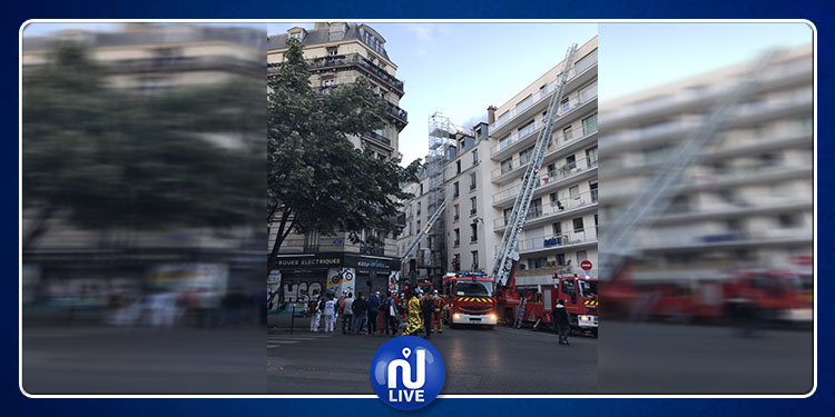 قتلى في حريق وسط باريس(صور)