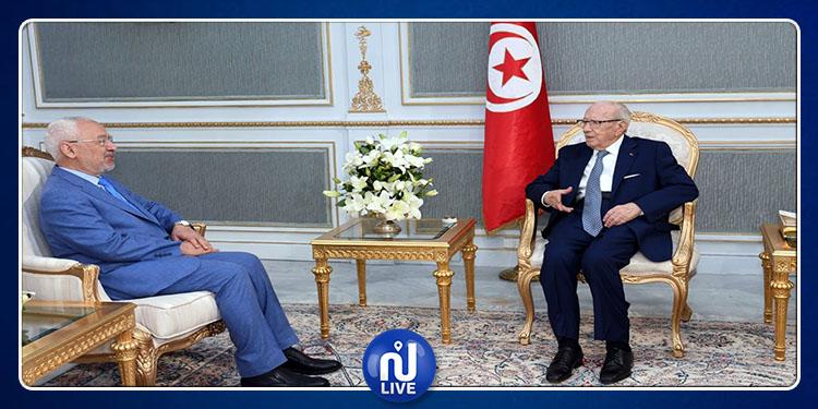 Béji Caïd Essebsi s'entretient avec Rached Ghannouchi