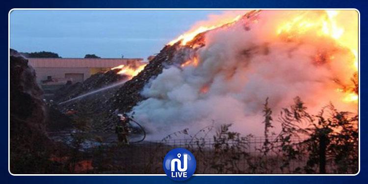 الوسلاتية :حريق هائل بجبل السرج