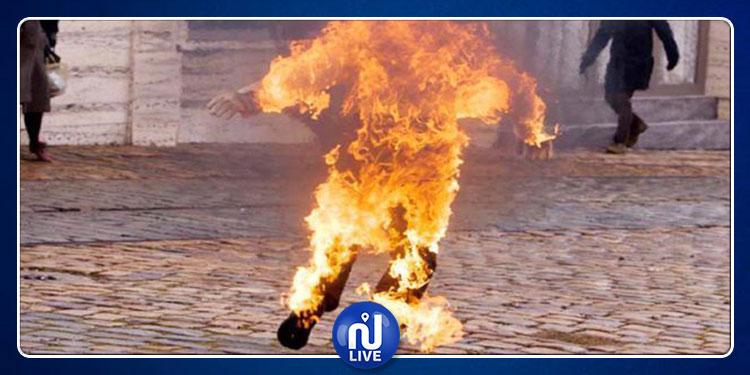 سيدي بوزيد: شاب يضرم النار في جسده (صور)