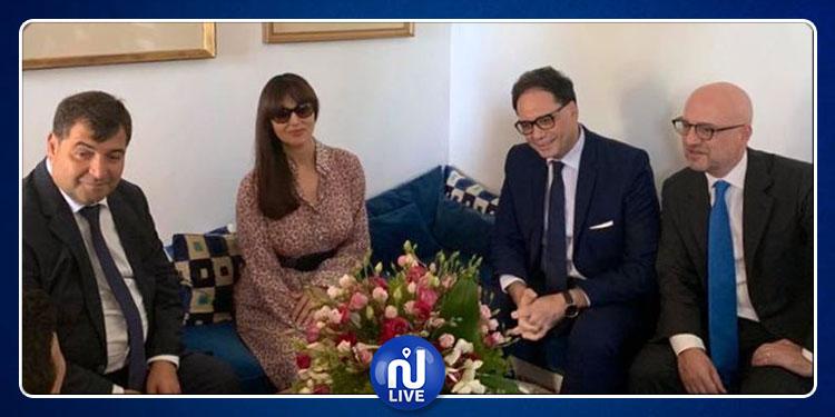 وزيرا السياحة والثقافة يستقبلان مونيكا بيلوتشي (صور)