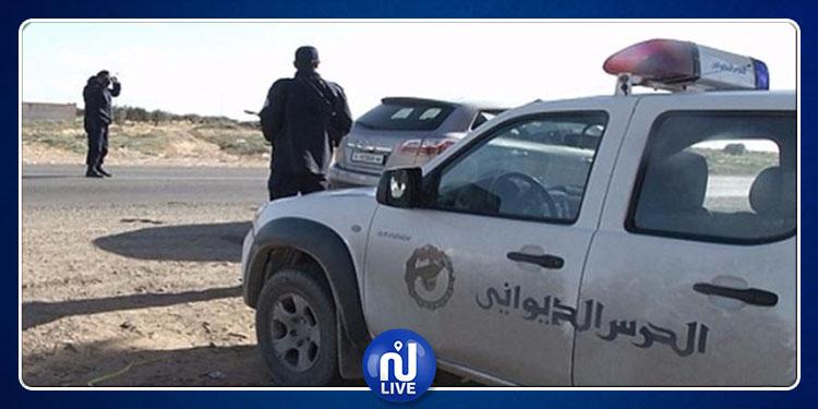 القصرين: اصابة 4 أعوان ديوانة إثر حادث انقلاب سيارتهم