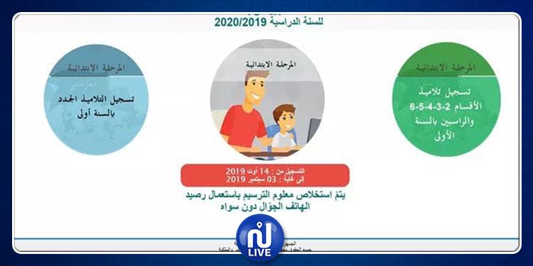 وزارة التربية تنشر دليل استعمال خدمة التسجيل عن بعد لتلاميذ المرحلة الإبتدائية