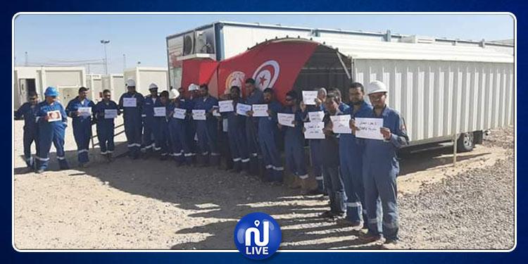 أعوان شركة OMV البترولية في إضراب عن العمل (صور)