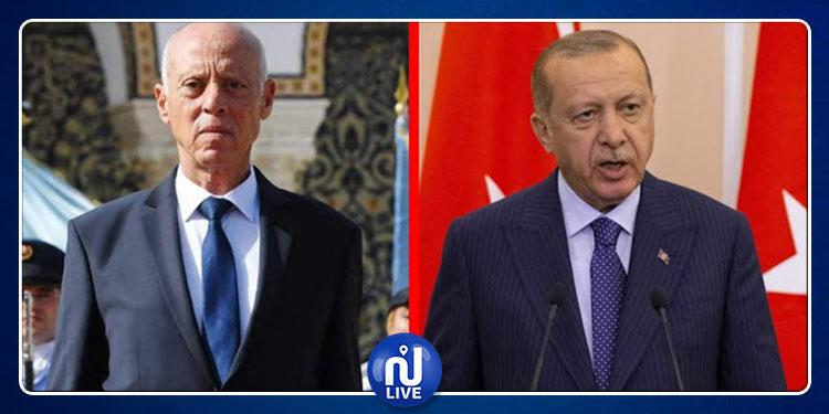 Kais Saïd invité par Erdogan, à visiter la Turquie