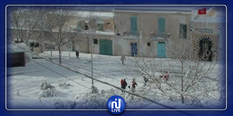 Vague de froid et chutes de neige en Tunisie