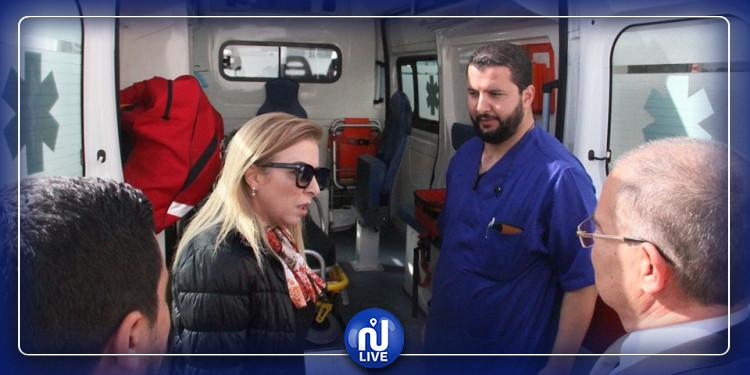 Virus corona : Sonia Bechikh à l'aéroport Tunis Carthage (photos)