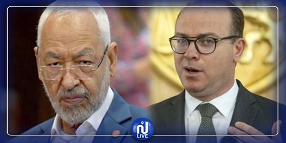 Elyes Fakhfakh interrompt les concertations et rencontre Rached Ghannouchi
