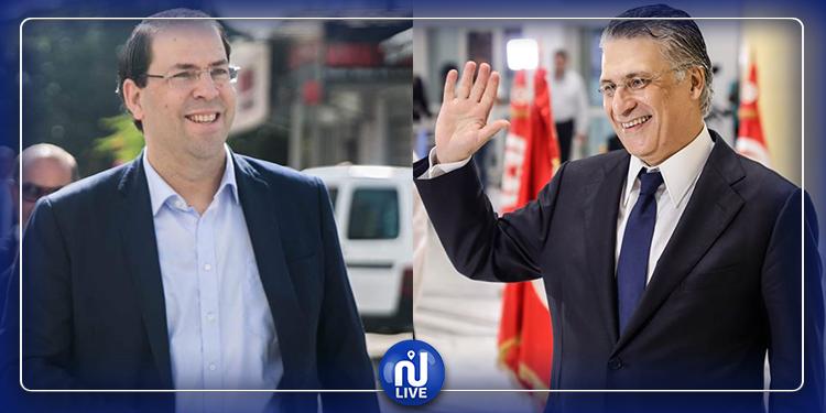 Rencontre entre Nabil Karoui et Youssef Chahed