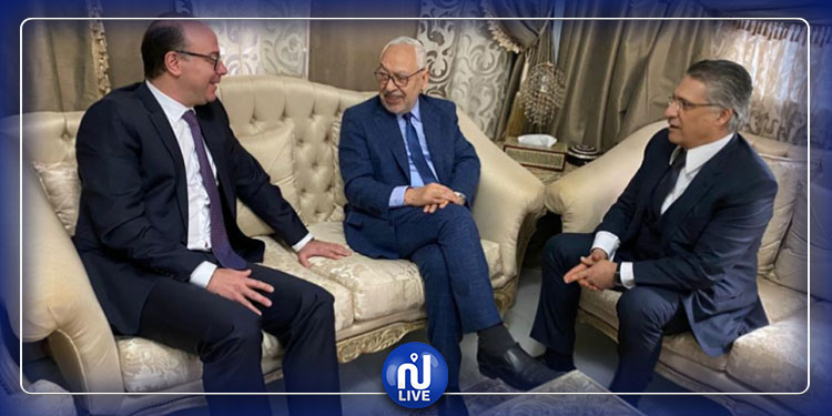 Nouvelle rencontre Ghannouchi-Karoui-Fakhfakh