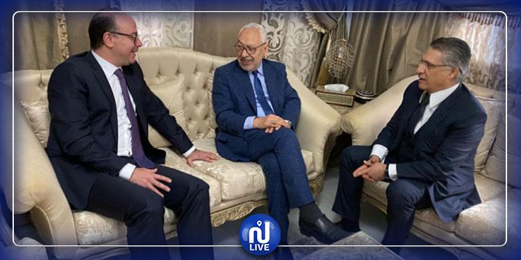 Urgent: Rencontre attendue entre Ghannouchi, Karoui et Fakhfakh