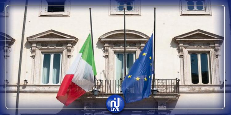 Giuseppe Conte : tous les drapeaux italiens en berne