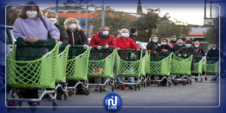 Italie: distribution de bons alimentaires...