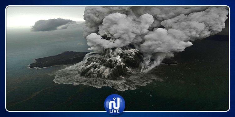 Indonésie: Photos terrifiantes du volcan, à l'origine du tsunami...