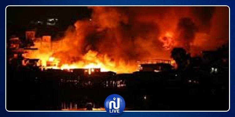 حريق هائل وانفجار بمصنع وقود في لندن