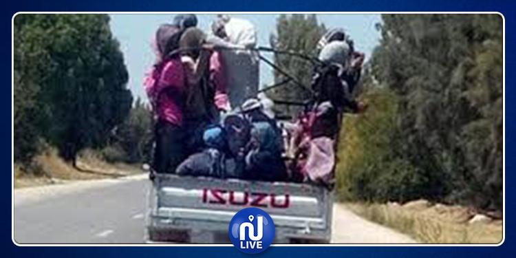 القيروان: إصابة عاملات فلاحيات في حادث مرور