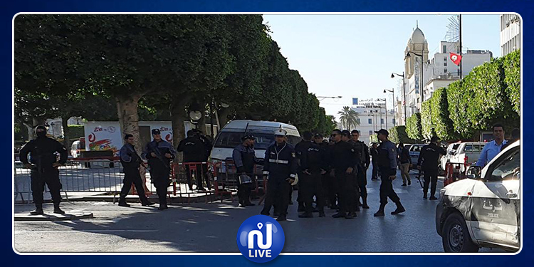 بعد الهجومين الارهابيين المتزامنين .. تطويق أمني كامل لشارع الحبيب بورقيبة وأنهجه الفرعية