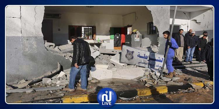 ليبيا.. تفجير بعبوة ناسفة يستهدف مركزًا للشرطة في درنة