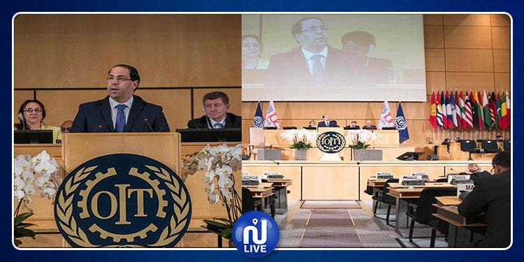 مؤتمر منظمة العمل الدولية  بجينيف : قاعة  الاجتماعات  فارغة خلال خطاب يوسف الشاهد