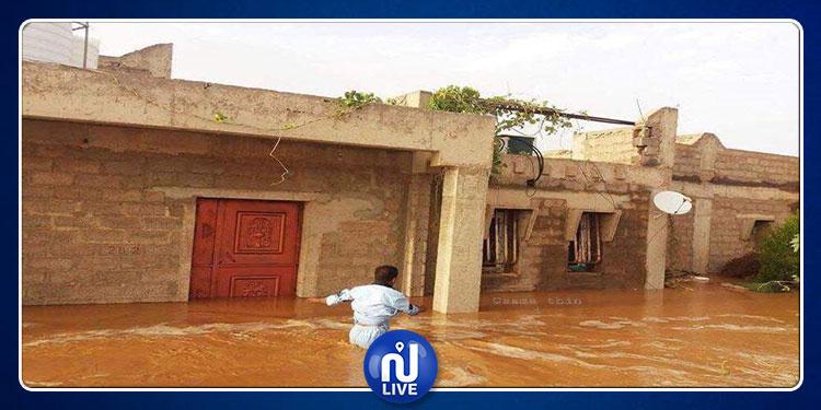 السيول تغمر مدينة غات الليبية