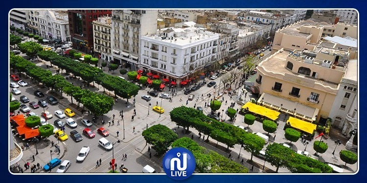 شارع الحبيب بورقيبة بلا سيارات خلال هذه الفترة