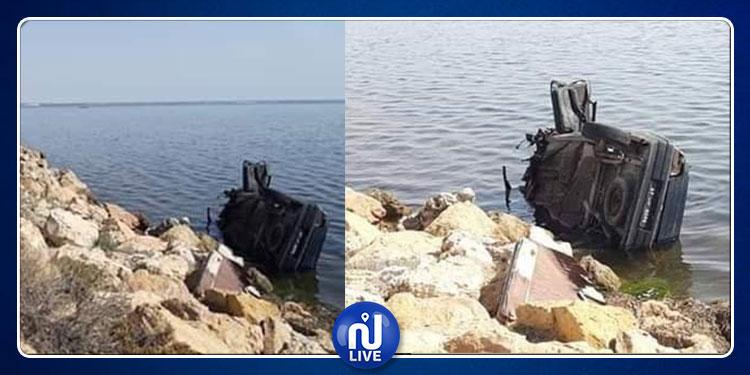 بين جربة وجرجيس.. سقوط سيارة  في البحر على الطريق الرومانية