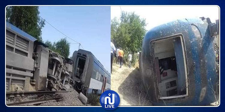 انقلاب قطار بالقلعة الكبرى: إصابة 15 راكبا بجروح متفاوتة الخطورة