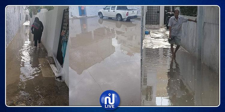 حتى بعد انتخاب المجلس البلدي : شوارع مدينة الحمامات تغمرها المياه  ! (صور)