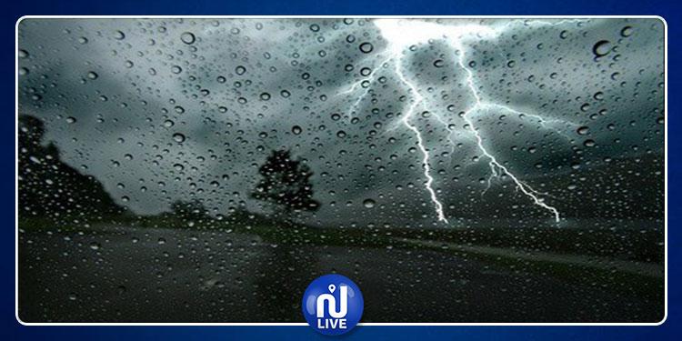 نشرة متابعة.. أمطار غزيرة  ورياح قوية مع ظهور الصواعق