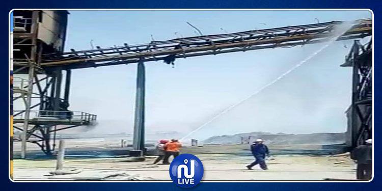 قفصة: اندلاع حريق بالمجمع الكيمياوي