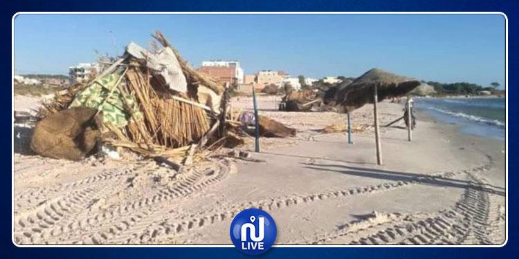 نابل: إزالة 50 كوخا خلال حملة للتّصدي للانتصاب الفوضوي بالشواطئ